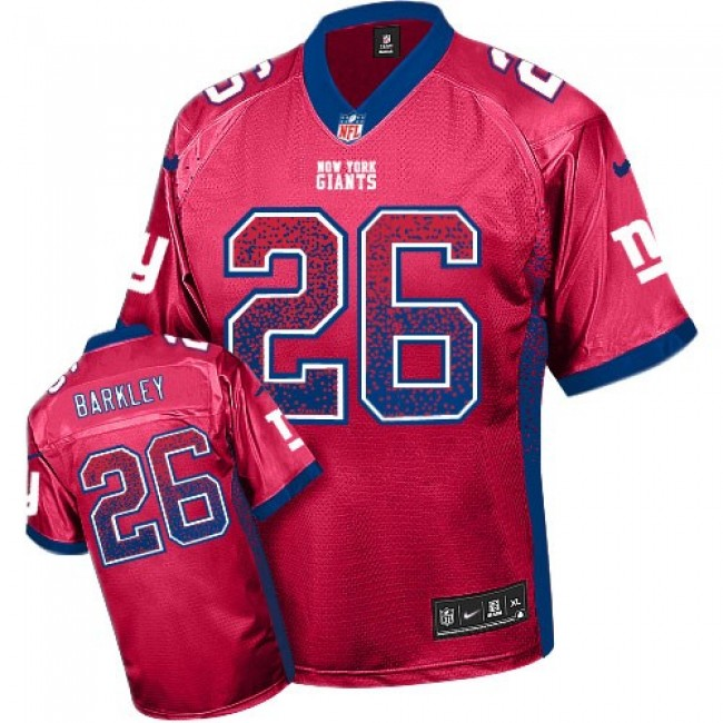 Nike Giants #26 Saquon Barkley Red Alternate Men's Stitched NFL Elite Drift Fashion Jersey