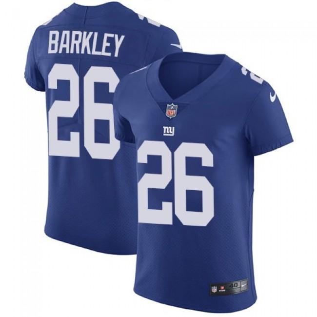 Nike Giants #26 Saquon Barkley Royal Blue Team Color Men's Stitched NFL Vapor Untouchable Elite Jersey