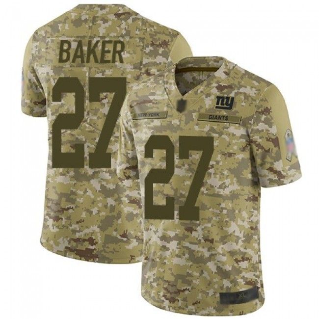 Nike Giants #27 Deandre Baker Camo Men's Stitched NFL Limited 2018 Salute To Service Jersey