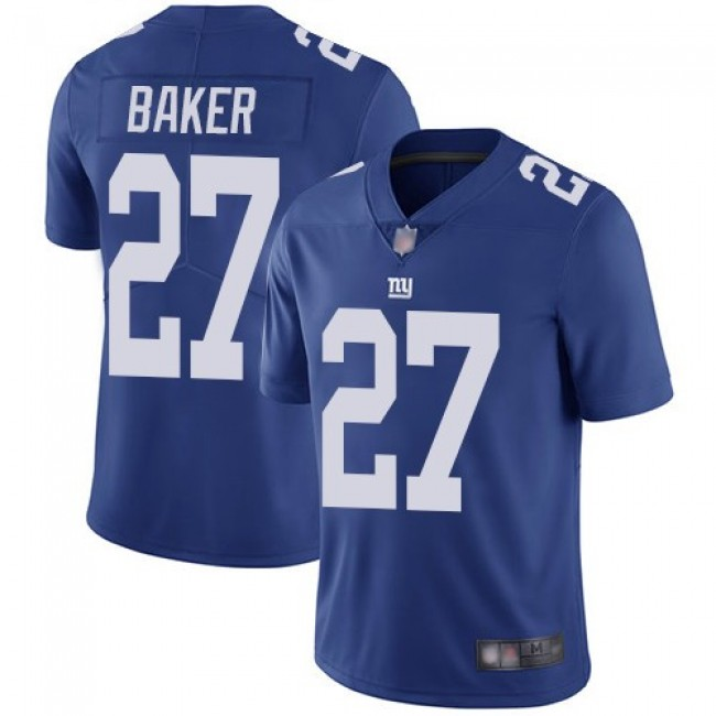 Nike Giants #27 Deandre Baker Royal Blue Team Color Men's Stitched NFL Vapor Untouchable Limited Jersey