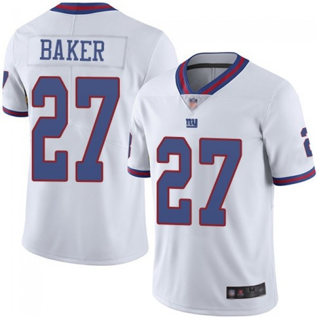Nike Giants #27 Deandre Baker White Men's Stitched NFL Limited Rush Jersey