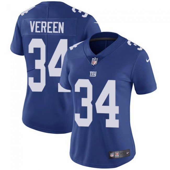 Women's Giants #34 Shane Vereen Royal Blue Team Color Stitched NFL Vapor Untouchable Limited Jersey
