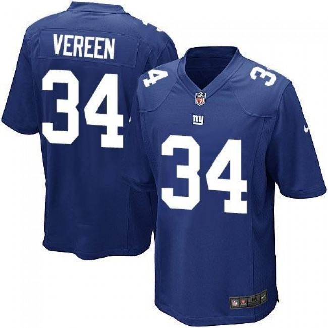 New York Giants #34 Shane Vereen Royal Blue Team Color Youth Stitched NFL Elite Jersey