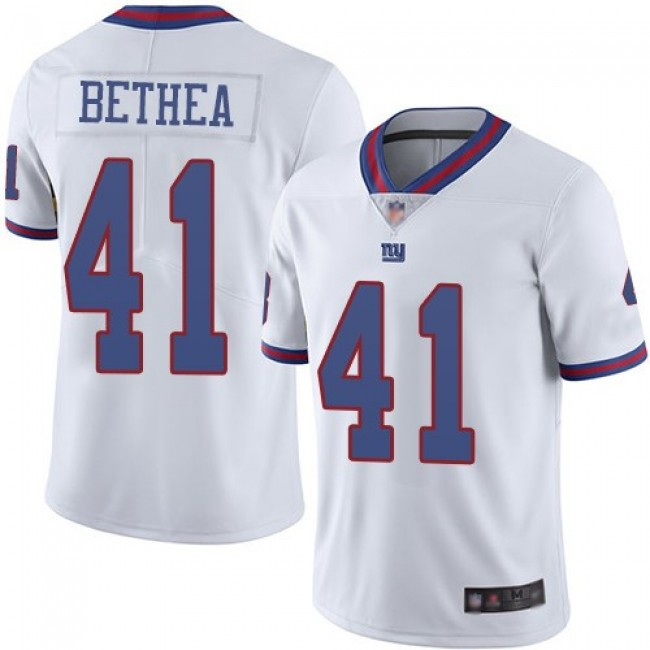 Nike Giants #41 Antoine Bethea White Men's Stitched NFL Limited Rush Jersey