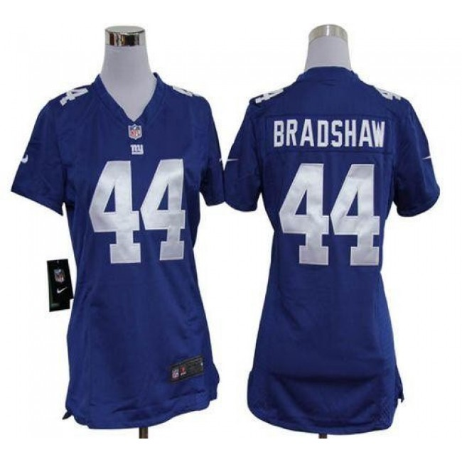 Women's Giants #44 Ahmad Bradshaw Royal Blue Team Color Stitched NFL Elite Jersey