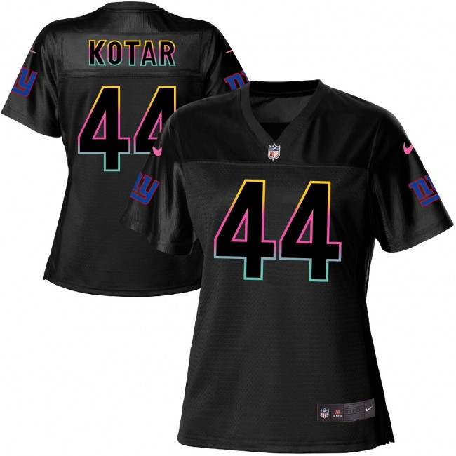 Women's Giants #44 Doug Kotar Black NFL Game Jersey
