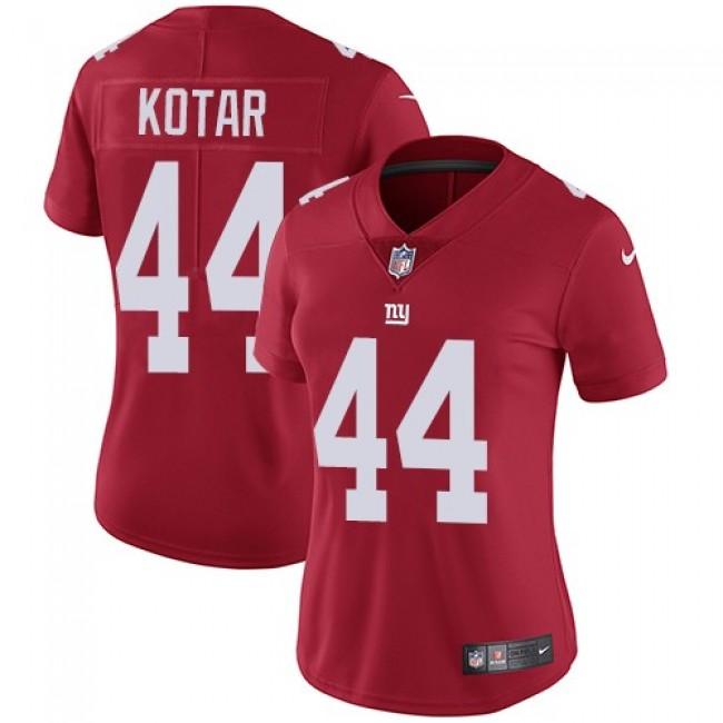 Women's Giants #44 Doug Kotar Red Alternate Stitched NFL Vapor Untouchable Limited Jersey