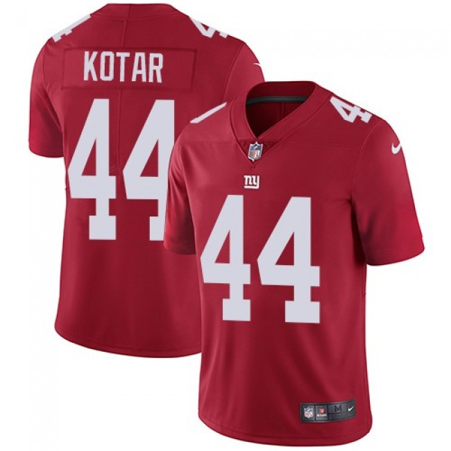 New York Giants #44 Doug Kotar Red Alternate Youth Stitched NFL Vapor Untouchable Limited Jersey