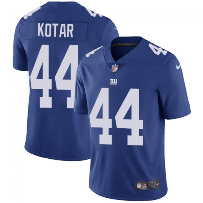 Nike Giants #44 Doug Kotar Royal Blue Team Color Men's Stitched NFL Vapor Untouchable Limited Jersey