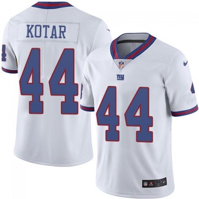 Nike Giants #44 Doug Kotar White Men's Stitched NFL Limited Rush Jersey