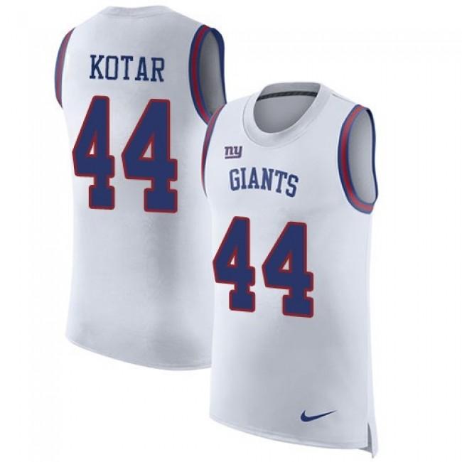 Nike Giants #44 Doug Kotar White Men's Stitched NFL Limited Rush Tank Top Jersey