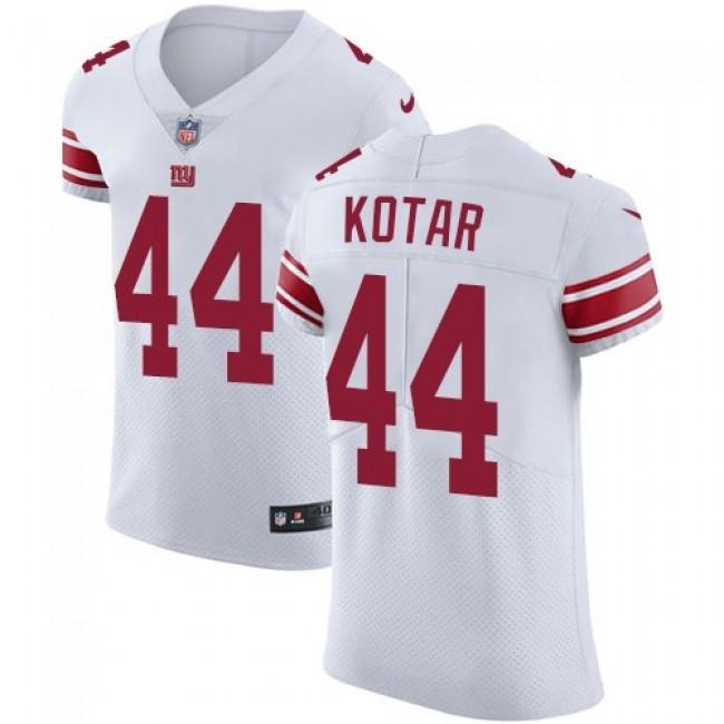 Nike Giants #44 Doug Kotar White Men's Stitched NFL Vapor Untouchable Elite Jersey