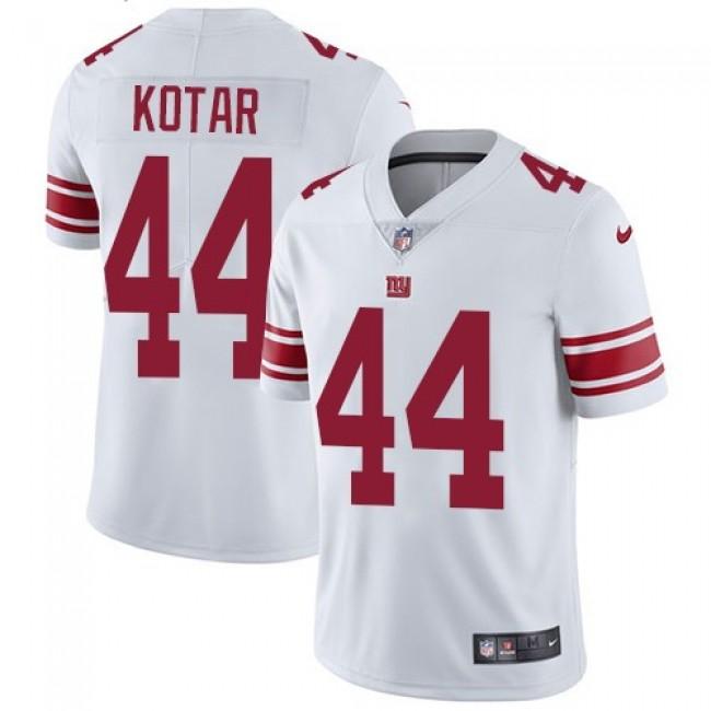 Nike Giants #44 Doug Kotar White Men's Stitched NFL Vapor Untouchable Limited Jersey