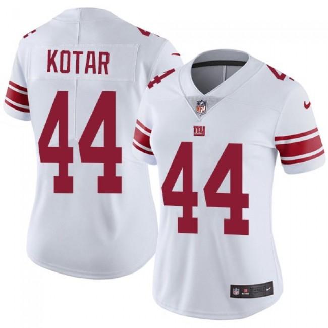 Women's Giants #44 Doug Kotar White Stitched NFL Vapor Untouchable Limited Jersey