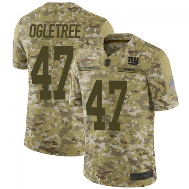 Nike Giants #47 Alec Ogletree Camo Men's Stitched NFL Limited 2018 Salute To Service Jersey