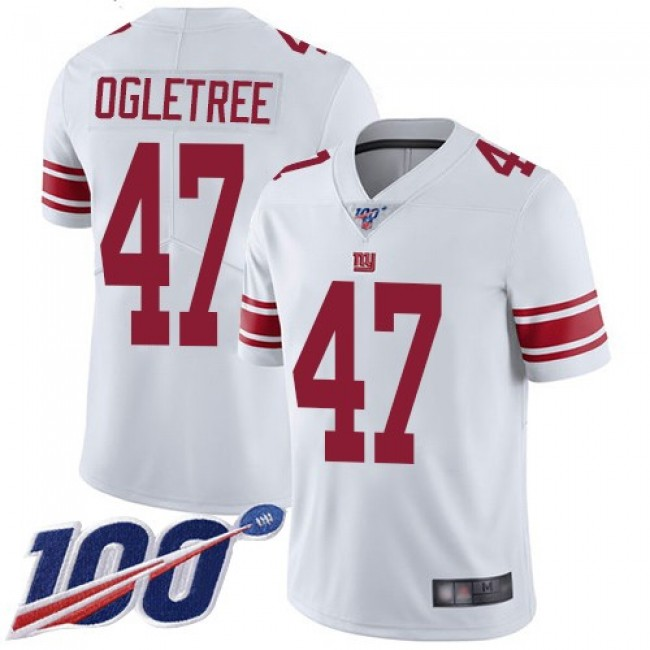 Nike Giants #47 Alec Ogletree White Men's Stitched NFL 100th Season Vapor Limited Jersey