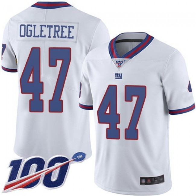 Nike Giants #47 Alec Ogletree White Men's Stitched NFL Limited Rush 100th Season Jersey