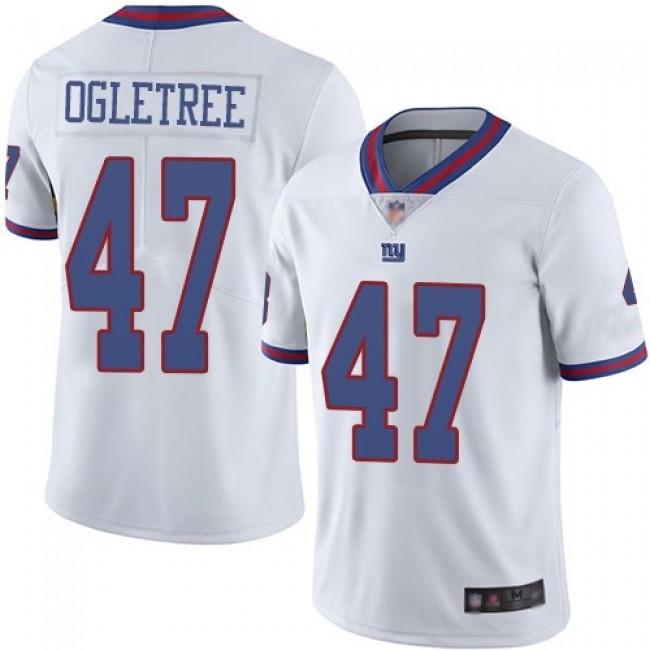 Nike Giants #47 Alec Ogletree White Men's Stitched NFL Limited Rush Jersey