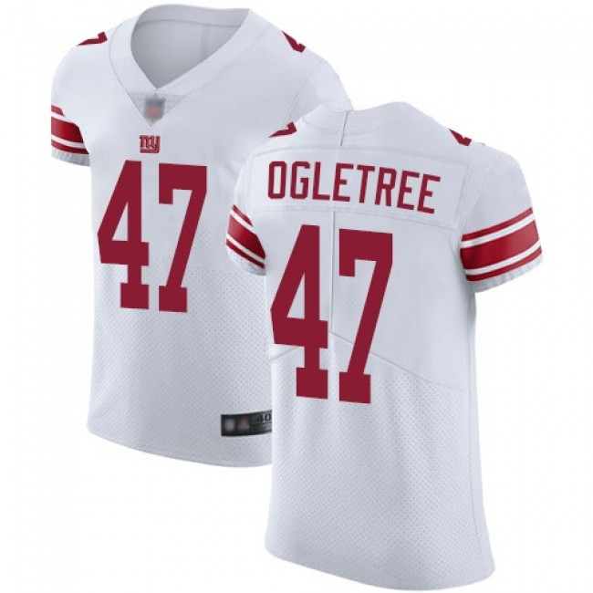 Nike Giants #47 Alec Ogletree White Men's Stitched NFL Vapor Untouchable Elite Jersey