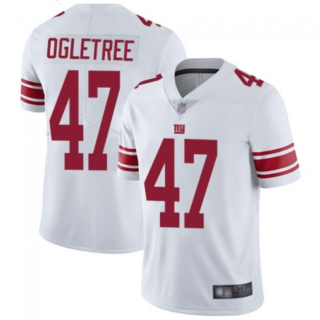 Nike Giants #47 Alec Ogletree White Men's Stitched NFL Vapor Untouchable Limited Jersey