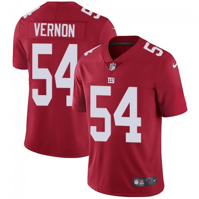 New York Giants #54 Olivier Vernon Red Alternate Youth Stitched NFL Vapor Untouchable Limited Jersey