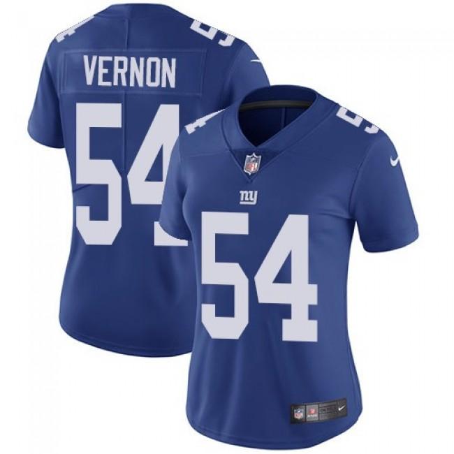 Women's Giants #54 Olivier Vernon Royal Blue Team Color Stitched NFL Vapor Untouchable Limited Jersey