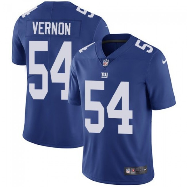 New York Giants #54 Olivier Vernon Royal Blue Team Color Youth Stitched NFL Vapor Untouchable Limited Jersey