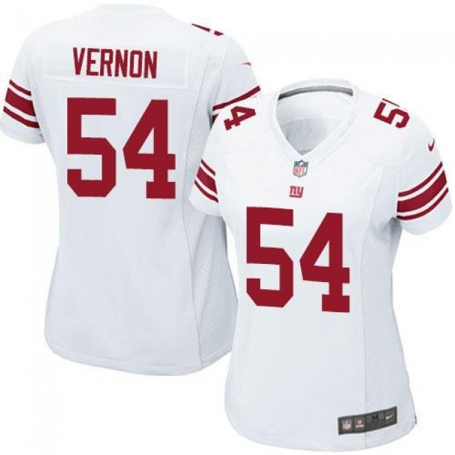 Women's Giants #54 Olivier Vernon White Stitched NFL Elite Jersey