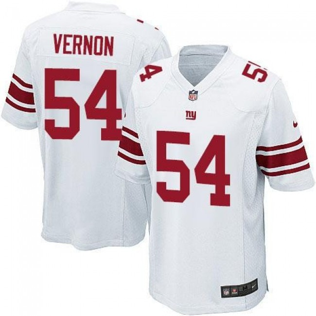 New York Giants #54 Olivier Vernon White Youth Stitched NFL Elite Jersey
