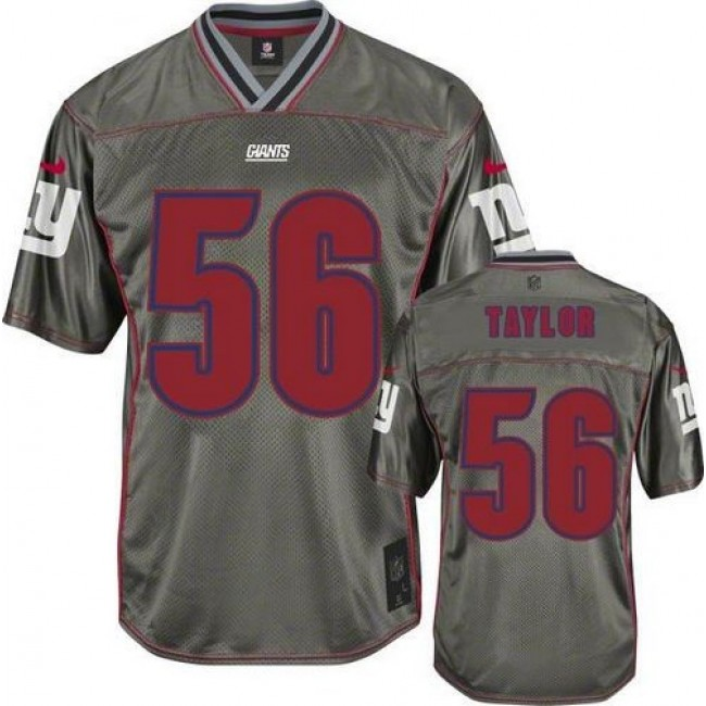 Nike Giants #56 Lawrence Taylor Grey Men's Stitched NFL Elite Vapor Jersey