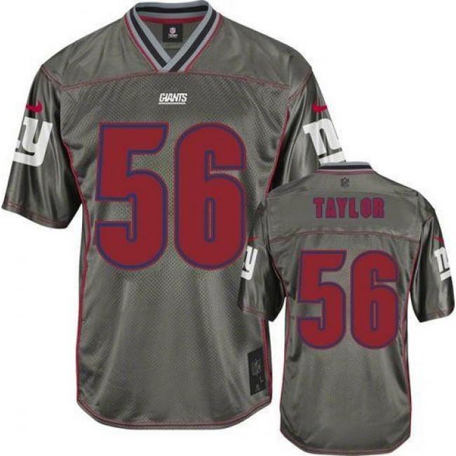 New York Giants #56 Lawrence Taylor Grey Youth Stitched NFL Elite Vapor Jersey