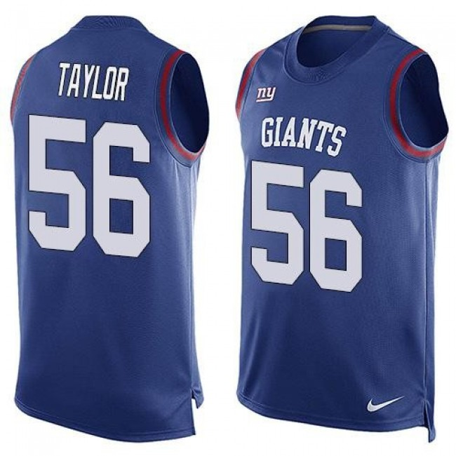 Nike Giants #56 Lawrence Taylor Royal Blue Team Color Men's Stitched NFL Limited Tank Top Jersey
