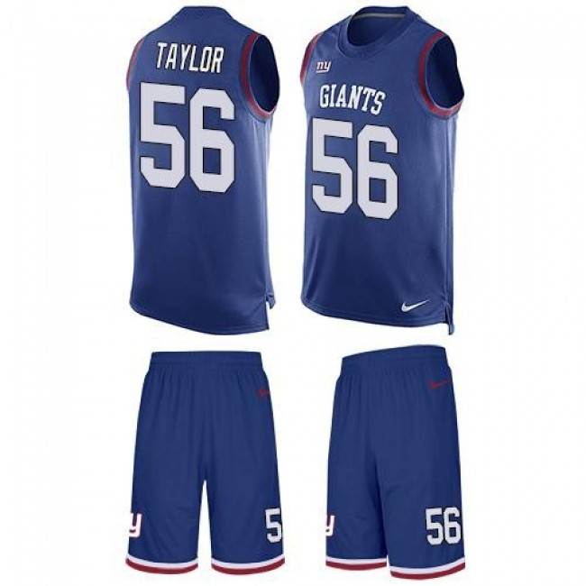 Nike Giants #56 Lawrence Taylor Royal Blue Team Color Men's Stitched NFL Limited Tank Top Suit Jersey