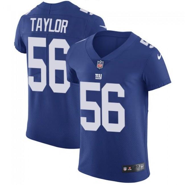 Nike Giants #56 Lawrence Taylor Royal Blue Team Color Men's Stitched NFL Vapor Untouchable Elite Jersey