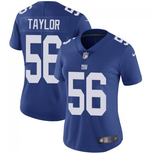 Women's Giants #56 Lawrence Taylor Royal Blue Team Color Stitched NFL Vapor Untouchable Limited Jersey