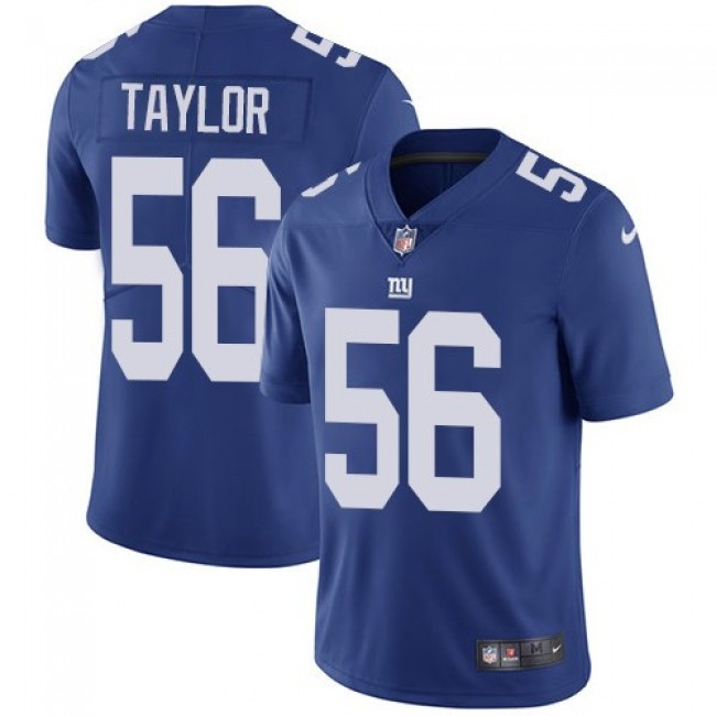 New York Giants #56 Lawrence Taylor Royal Blue Team Color Youth Stitched NFL Vapor Untouchable Limited Jersey