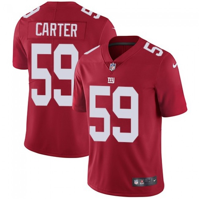 Nike Giants #59 Lorenzo Carter Red Alternate Men's Stitched NFL Vapor Untouchable Limited Jersey