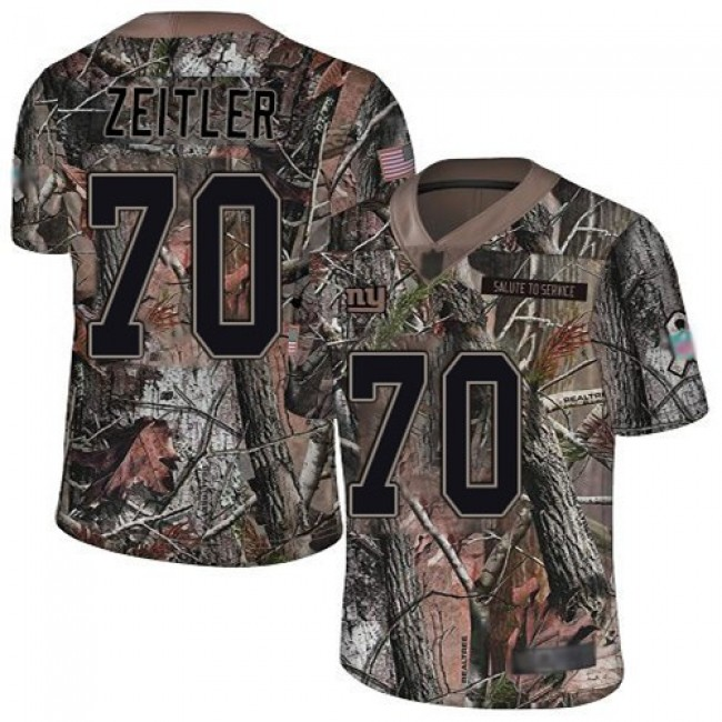 Nike Giants #70 Kevin Zeitler Camo Men's Stitched NFL Limited Rush Realtree Jersey