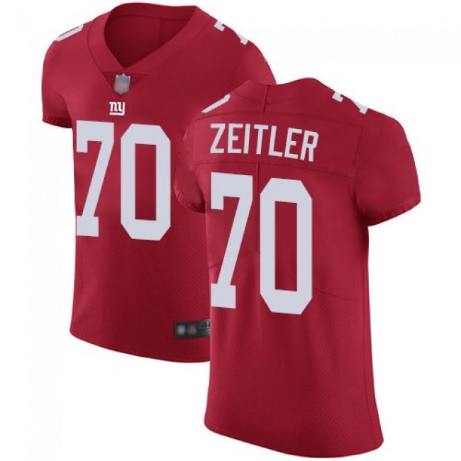 Nike Giants #70 Kevin Zeitler Red Alternate Men's Stitched NFL Vapor Untouchable Elite Jersey