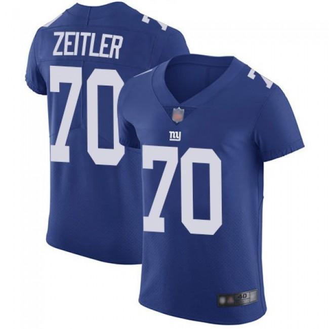 Nike Giants #70 Kevin Zeitler Royal Blue Team Color Men's Stitched NFL Vapor Untouchable Elite Jersey