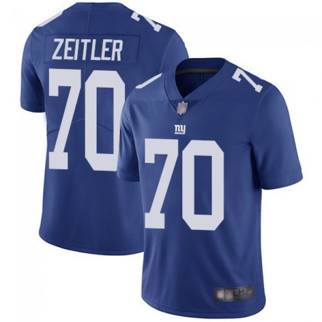 Nike Giants #70 Kevin Zeitler Royal Blue Team Color Men's Stitched NFL Vapor Untouchable Limited Jersey