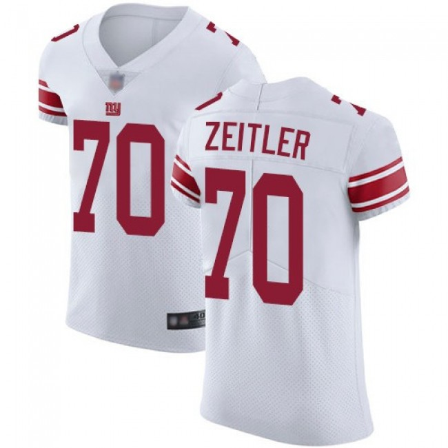Nike Giants #70 Kevin Zeitler White Men's Stitched NFL Vapor Untouchable Elite Jersey