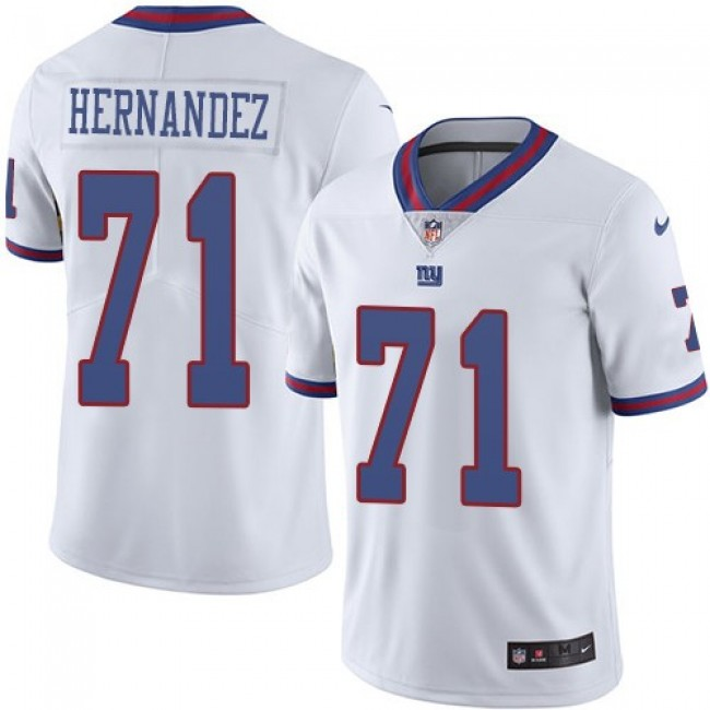 Nike Giants #71 Will Hernandez White Men's Stitched NFL Limited Rush Jersey