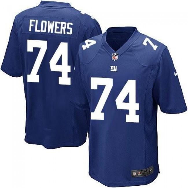 New York Giants #74 Ereck Flowers Royal Blue Team Color Youth Stitched NFL Elite Jersey