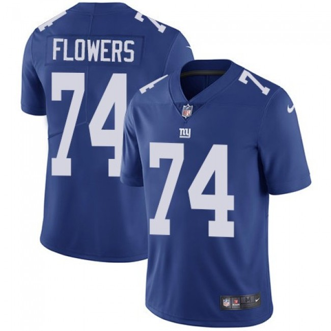New York Giants #74 Ereck Flowers Royal Blue Team Color Youth Stitched NFL Vapor Untouchable Limited Jersey