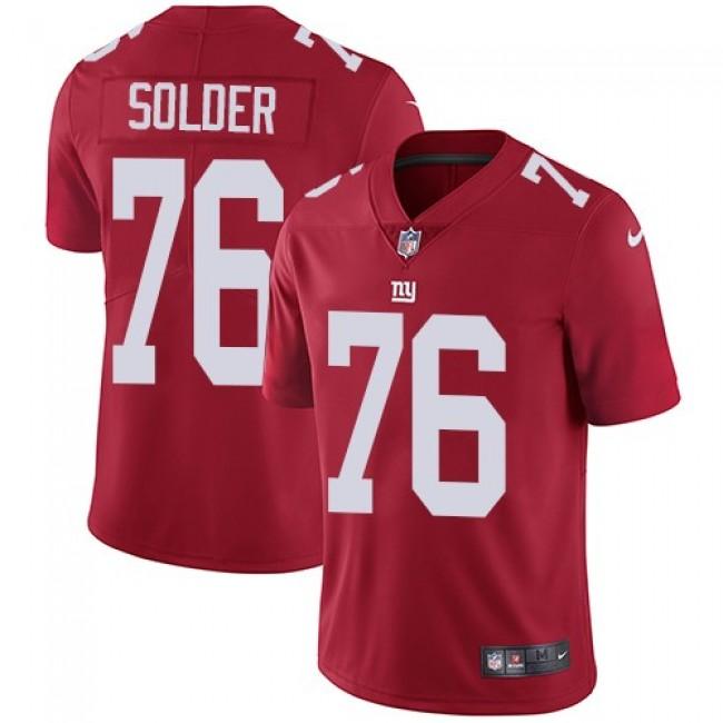 Nike Giants #76 Nate Solder Red Alternate Men's Stitched NFL Vapor Untouchable Limited Jersey