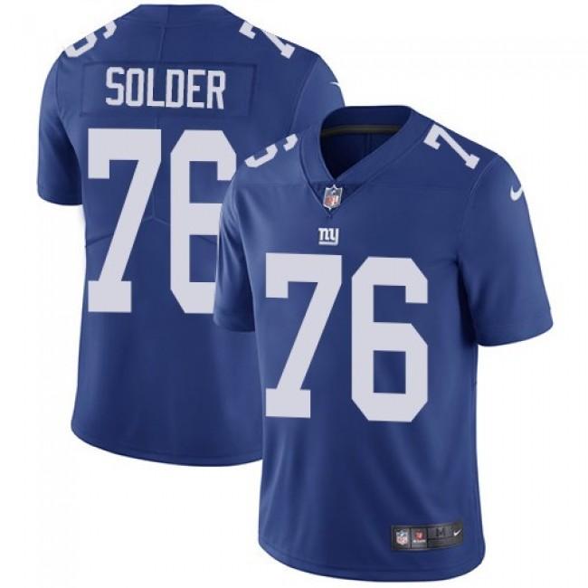 Nike Giants #76 Nate Solder Royal Blue Team Color Men's Stitched NFL Vapor Untouchable Limited Jersey