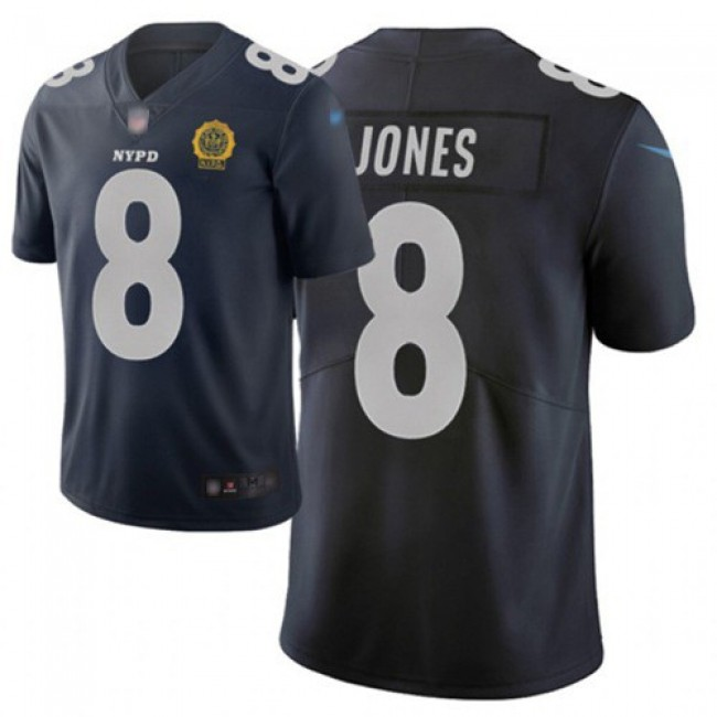 Nike Giants #8 Daniel Jones Navy Men's Stitched NFL Limited City Edition Jersey