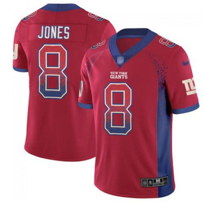 Nike Giants #8 Daniel Jones Red Alternate Men's Stitched NFL Limited Rush Drift Fashion Jersey
