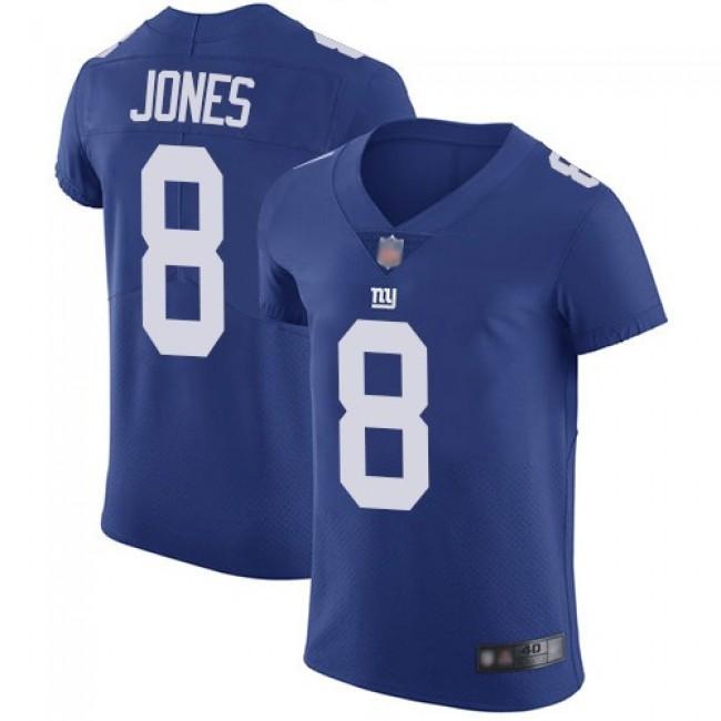 Nike Giants #8 Daniel Jones Royal Blue Team Color Men's Stitched NFL Vapor Untouchable Elite Jersey